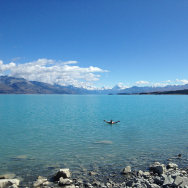 Glacier Lake, New Zealand